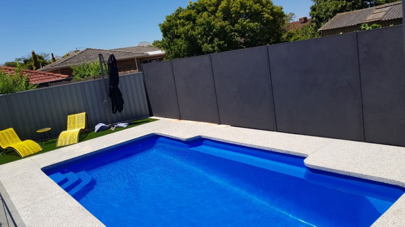 A beautiful concrete pool complete