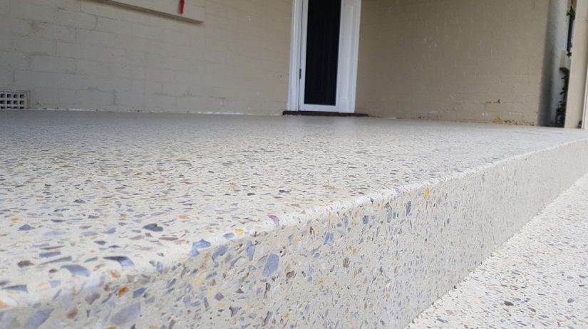 Honed aggregate porch in Perth's inner suburbs