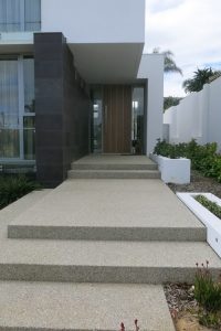 Exposed aggregate stair case in Perth Western Australia