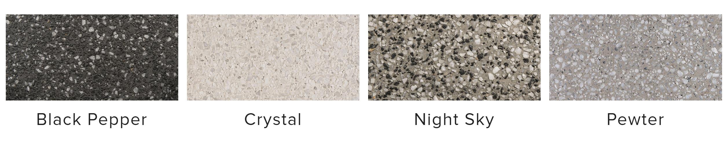 Different concrete colours
