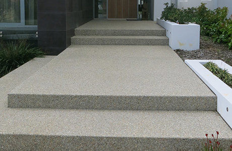 Steps for Exposed Aggregate Laying and Finishing.
